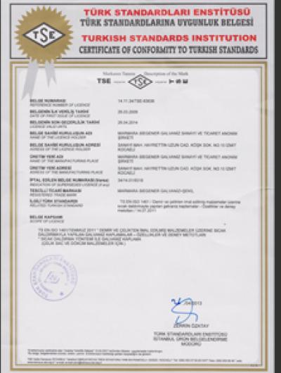 TS 914 EN ISO 1461